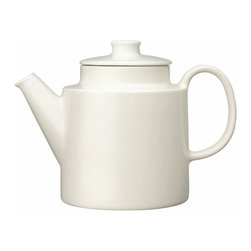 Iittala - Teema Teapot White - Every home needs a simple teapot for brewing in style. And this modern ceramic pot is a refreshing alternative to grandma's china pattern. It will brew up one quart of tea and then can be safely placed in the dishwasher for easy cleanup.