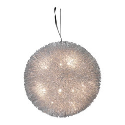 Trend Lighting - Celestial 20-Light Chandelier - Star light, star bright, let this sublime fixture be the first you see when you walk into your favorite room. Bring ethereal beauty to your home with the multiple beams of light, emanating from a single source of splendor.
