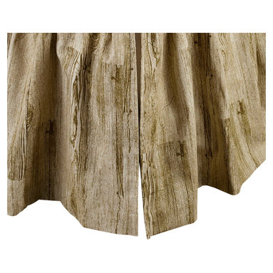 "Mystic Valley - Mystic Valley Traders Montana - Twin Bed Skirt - The Montana bed skirt is fashioned from the Timber fabric; it is lined and gathered with a 16"" drop."