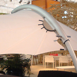 "Rimbou Icarus Shade Leaf - Shade your patio with something inspired by nature, like this modern ""shade leaf"". It's like an extension of the trees around you."
