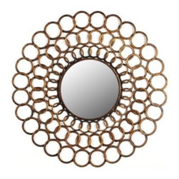 Golden Links Mirror - The Golden Links mirror is as much art as it is mirror.  Display this piece above a chest or dresser, or as part of a wall grouping above a sofa.