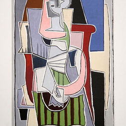 Pablo Picasso Estate Collection Femme au Tablier Raye Vert Hand Signed with COA - PABLO PICASSO ESTATE COLLECTION