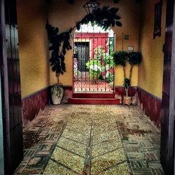 """Entrance to a Spanish Courtyard"" Artwork - A colorful entrance to a traditional Spanish courtyard"