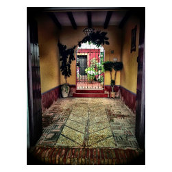 Entrance To A Spanish Courtyard , Limited Edition, Photograph - A colorful entrance to a traditional Spanish courtyard