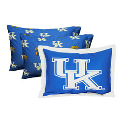 College Covers - NCAA Kentucky Wildcats Pillowcase Set 3pc Blue Bedding - FEATURES: