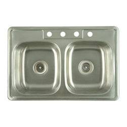 Kingston Brass - Gourmetier Double Bowl Self-rimming Kitchen Sink Satin Nickel K33228DBN - Spontaneous, unpredictable, fanciful, unusual or quaint,  that's the definition you'll find in a dictionary.  We define it as a style that is full of unexpected, clever and creative ideas that jar the imagination while adding design and function.. Product Name: 1-3/8 In. South Seas Antique Mist Cabinet Knob . Finished: Antique Mist Finish. Included: Mounting Hardware Included. Size Type: Diameter. Screw Center to Center in Inches: . Diameter: 1.375. Diamension Length in Inches: 1.5. Diamension Width Inches: 1.38. Diamension Height Inches: 1.06. Weight in OZ: 0.96. Product Type: Knobs. Style: Whimsical. Finish Name: Antique Mist. Appearance Finish: Antiqued. Color Palette: Golds (Brass). Basic Shape: Ornate