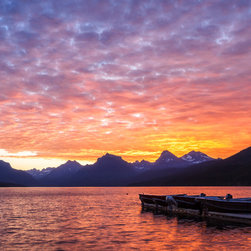 Images by jon evan - Morning Light - This photograph was taken at Lake McDonald in Glacier National Park.  It measure 30x45 and ships direct from the manufacturer, ready to hang.