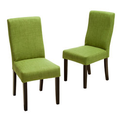 Great Deal Furniture - Heath Fabric Dining Chairs (Set of 2), Green - The Heath Dining Chairs are a perfect set to bring together any space in your home. They compliment almost any decor and even double as extra seating. These chairs will satisfy for years to come by offering comfort, style, and durability.