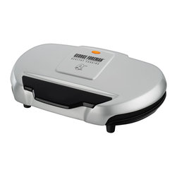 George Foreman - George Foreman 9-serving Classic Plate Electric Grill (Refurbished) - Featuring a patented slope design for healthier cooking,this George Foreman grill is the perfect way to serve your family and friends delicious dishes. The signature heating elements provide even heat and fast temperature recovery.