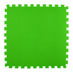 Greatmats - Greatmats Foam Floor Tile, 10 Pack, Lime Green - This is a 10 pack of tiles. Free Shipping. Each tile is 2x2 ft in size and covers 4 SF, this 10 pack of foam tiles will cover 40 SF. 2 Border strips included per tile. Ships ground to your door.