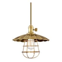 Hudson Valley Lighting - Hudson Valley Lighting 9001-AGB-MS2-WG Heirloom Aged Brass Pendant - Hudson Valley Lighting 9001-AGB-MS2-WG Heirloom Aged Brass Pendant