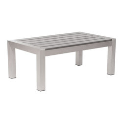 Zuo Modern - Zuo Modern Cosmopolitan Outdoor Coffee Table X-068107 - Made from 100% aluminum frame with a polyethylene faux wood top, the Metropolitan coffee table will create the perfect gathering place with friends
