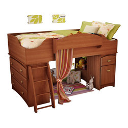 South Shore - South Shore Imagine Kids Loft Bed 3 Piece Bedroom Set in Morgan Cherry Finish - South Shore - Bedroom Sets - 3576A33PKG -
