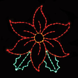 Brite Ideas - 53 in. Outdoor LED Large Poinsettia Display - 200 Bulbs Multicolor - LED-PT60 - Shop for Holiday Ornaments and Decor from Hayneedle.com! About Brite IdeasEstablished in Omaha Neb. in 1990 Brite Ideas Decorating Inc. has become a holiday lighting industry leader providing customers across the United States with durable cutting edge lighting displays for both residential and commercial applications.Featuring a full line of innovative LED products and uniquely designed displays Brite Ideas appeals to traditional modern simple and even ornate tastes. It is their mission to promote excellence in the holiday lighting industry. With that in mind Brite Ideas products go above and beyond the standard to create the best holiday atmosphere for you.