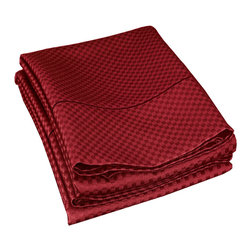 "Cotton Rich 800 Thread Count Microchecker Pillowcase Set - King - Burgundy - Surround yourself in the classic elegance of Impressions Hem Stitch pillowcase set. This set features a microchecker pattern. Set includes: (2) Pillowcases 20""x40""."