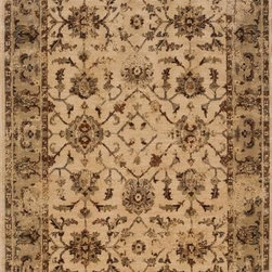 """Oriental Weavers Sphinx - Oriental Weavers Sphinx Casablanca 1376E 3'10"""" x 5'5"""" Beige Rug - Casablanca is Sphinx's new collection of timeless patterns using a revolutionary space-dyed nylon/polypropylene blend for a silky feel with a depth of color and exceptional durability. Styles range from traditional Persian looks to modern pieces utilizing ikat and medallion motifs. The palette highlights modern pastels like dove grey, warm copper and cool sage while using a sophisticated base of soft neutrals such as ivory and warm cocoa. Deeper colors in shades of slate blue, deep ochre and a burst of persimmon bring a rich vibrancy to the palette."""