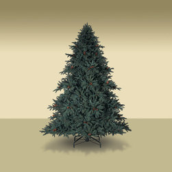 "Balsam Hill - 7.5' Balsam Hill® Aspen Silver Fir Unlit Artificial Christmas Tree - Our 7.5' Aspen Silver Fir� unlit artificial Christmas tree looks just like real Rocky Mountain fir complete with blue-green branch tips and pinecones. The 6.5 foot unlit version comes with a scratch-proof tree stand w/ rubber feet, soft cotton gloves for shaping the tree, and off-season storage bags. As the best artificial Christmas tree manufacturer that is the #1 choice for set designers for TV shows such as ""Ellen"" and ""The Today Show"", in addition to being a recipient of the Good Housekeeping Seal of Approval, our trees are backed by a 10-year foliage warranty and a 3-year light warranty. Free shipping when you buy today!"