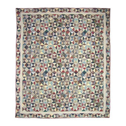 Patch Quilts - Kaleidoscope Quilt  Luxury King 120 x 106 Inch - Intricate patchwork and beautiful hand quilting  - Bedding ensemble from Patch Magic Patch Quilts - QLKKALD