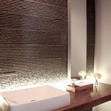 Contemporary Powder Room by Csimplicity Design