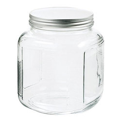 Anchor Hocking - Anchor Hocking 1-Gallon Glass Cracker Jar with Brushed Aluminum Lid, 4 Pack - Anchor Hocking 85725 1 Gallon Glass Cracker Jar with Brushed Aluminum Lid, Clear (4 Pack)