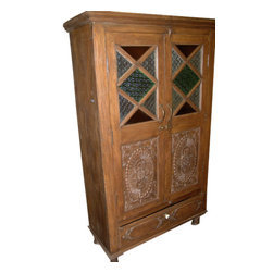 Mogul interior - India Cabinet Carvings Wooden Armoire Beautiful Hand Made Furniture - You are buying an absolutely incredible antique wooden armories wardrobe.