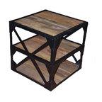 SeventhStaRetail - Industrial Reclaimed Side Table - Industrial Reclaimed Side Table