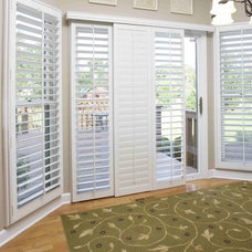 Traditional Family Room by Sunburst Shutters & Window Fashions - New England