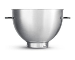 Breville - Breville Second Bowl 4-Quart Stainless Steel Bowl for use with BEM800XL Stand Mi - You're all set to create your own deep house mix. This extra bowl is made for the Breville BEM800XL stand mixer, so you'll always have extra prep room. Crafted of strong stainless steel, it features two handles and holds four quarts of goodness.