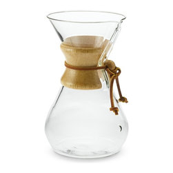 Chemex Wood Collar Glass Coffeemaker - How cool is this coffeemaker? I would die to have this in my home because it's just so unique. Wouldn't it also make a great vase, wine carafe or water jug? The wood collar is an added insulator, which just adds to the pizzazz.