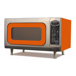 Big Chill - Big Chill Retro Microwave, Orange - Need a pop of color in your kitchen? This microwave should do the trick!