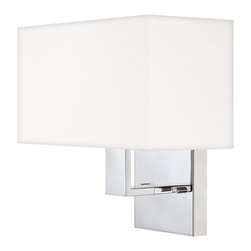 Quoizel - Quoizel REM8701C Remi Wall Sconce - The Remi Collection gives a nod to mod with its gleaming Chrome finish and angular arms. The square shades echo the geometric shape, which is artistically carried through on the square canopy.