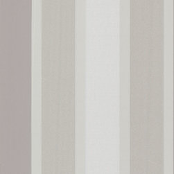Brewster Home Fashions - Horizon Silver Stripe Wallpaper Bolt - Gilded by touches of silver metallic this contemporary grey stripe  Wallpaper has a high fashion allure and a timeless refinement.