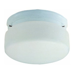 DHI-Corp - 2-Light Ceiling Mount, White - The Design House 507327 2-Light Ceiling Mount with Chain is made of formed steel, opal glass and finished in white. This 2-light ceiling mount is rated for 120-volts and uses (2) 60-watt medium base incandescent bulbs. As one of the most popular styles of light fixtures, ceiling mounts are suited for any room in the house as they hang close to the ceiling with a classic half-cylinder shape. Measuring 4.25-inches (H) by 8.75-inches (W), this 1.98-pound fixture's petite design is ideal for hallways, bedrooms or closets. Minimal details accentuate the opal glass to create a soft light in your home. This product is UL and cUL listed. The Design House 507327 2-Light Ceiling Mount with Chain comes with a 10-year limited warranty that protects against defects in materials and workmanship. Design House offers products in multiple home decor Categories including lighting, ceiling fans, hardware and plumbing products. With years of hands-on experience, Design House understands every aspect of the home decor industry, and devotes itself to providing quality products across the home decor spectrum. Providing value to their customers, Design House uses industry leading merchandising solutions and innovative programs. Design House is committed to providing high quality products for your home improvement projects.