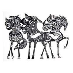 Hand Cut Paper Horses - The southwest, tribal vibe is definitely on trend in the fashion industry, so why not incorporate it into the home? I love this take on horse artwork — it's bold and fragile and includes both masculine & feminine themes.