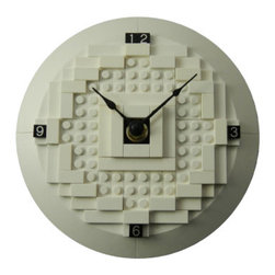 MR Brick Designer - LEGO White Office Clock - This 3d LEGO Desk Clock is a great accessory for your desk at work or home. It's a stylish yet conservative statement, showing your friends and office mates that you love LEGO while not looking like an item from your child's room.