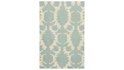 Thomas Paul Flock Dove-Cream Flatweave Dhurrie Rug