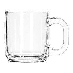 Libbey - Libbey Crystal 10-oz Coffee Mugs (Pack of 12) - Libbey Glassware is an innovative leader in producing durable glassware for the food service industry. This glass coffee mug holds 10-ounces and comes in a case of 12.
