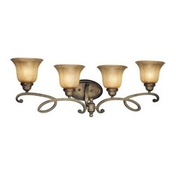 Minka Lavery - Minka Lavery 6144 4 Light Bathroom Vanity Light from the La Cecilia Collection - Four Light Bathroom Vanity Light from the La Cecilia CollectionFeatures: