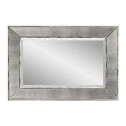 Bassett Mirror - Beaded Antique Mirror Wall Mirror - Beaded Antique Mirror Wall Mirror by Bassett Mirror