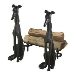 Dog Andirons 2-Piece Set - Dog Andirons
