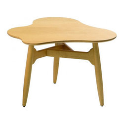 """Artek - Tee-Tee Low Table - Features: -Coffee table.-Top birch or oak veneered plywood.-Frame solid birch or oak.-Designed in 1940.-18.9"""" H x 27.6"""" W x 27.6"""" D, 10 lbs.-Distressed: No.-Country of Manufacture: Finland.Dimensions: -Overall Product Weight: 10 lbs."""