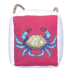 """Handcrafted Model Ships - Decorative Crab Door Stopper 6"""" - Door Stopper - The Decorative Crab Door Stopper 6"""" allows you to show your affinity for sea animals and keep your door propped open. Beautifully hand stitched, this crab door stopper is a great way to allow the a ray of light inside on a nice warm summer day. This is the perfect nautical gift for a relative, friend, or coworker. This door stop is fully functional and a great gift for the true nautical enthusiast in your life. This door stopper has a weight of 4 lbs."""