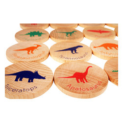 Tree Hopper Toys - Match Stacks - Dinosaurs - A Tree Hopper twist on a classic educational game! MATCH STACKS is a durable, portable, and super cute memory and matching game.