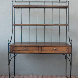 cottage baker's rack - view this item on our website for more information + purchasing availability: https://redinfred.com/shop/category/furnish/storage/cabinets-shelving-sideboards/cottage-bakers-rack/
