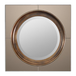 Antiqued Mirror with Heavily Antiqued Gold Frame - Antiqued Mirror with Heavily Antiqued Gold Frame