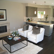 Contemporary Living Room by Premier Home Staging and Interiors, LLC