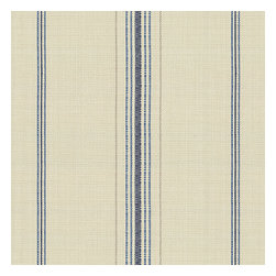Blue Feedsack-Style Cotton Stripe Fabric - Classic rustic blue & tan feedsack style stripe made in super soft woven cotton.  Bye bye scratchy burlap!Recover your chair. Upholster a wall. Create a framed piece of art. Sew your own home accent. Whatever your decorating project, Loom's gorgeous, designer fabrics by the yard are up to the challenge!