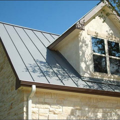 eclectic exterior Irvin Metal Roofing - Residential/Commercial - Texas Hill Country - Metal Roofs