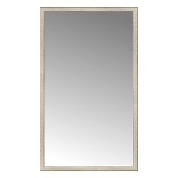 """Posters 2 Prints, LLC - 43"""" x 72"""" Libretto Antique Silver Custom Framed Mirror - 43"""" x 72"""" Custom Framed Mirror made by Posters 2 Prints. Standard glass with unrivaled selection of crafted mirror frames.  Protected with category II safety backing to keep glass fragments together should the mirror be accidentally broken.  Safe arrival guaranteed.  Made in the United States of America"""