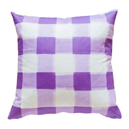 "Caitlin Wilson Textiles - Burnside Buffalo Check Pillowcase, 16""x26"" - A classic check re-invented in shades of lilac."